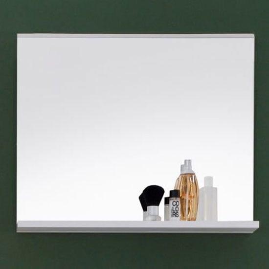 Photo of Mezzo wall mirror in matt white