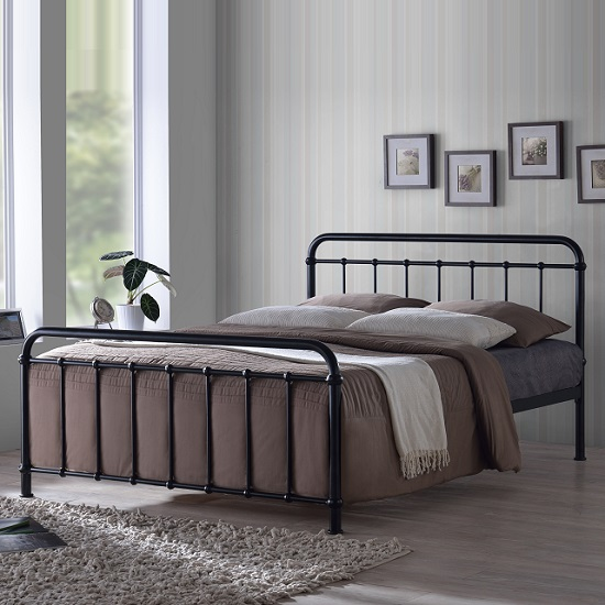 Miami Victorian Style Bed In Black Metal