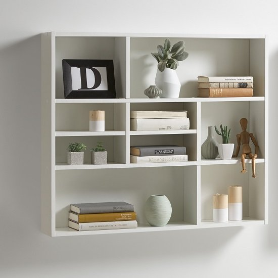 Andreas Wall Mounted Shelving Unit In White