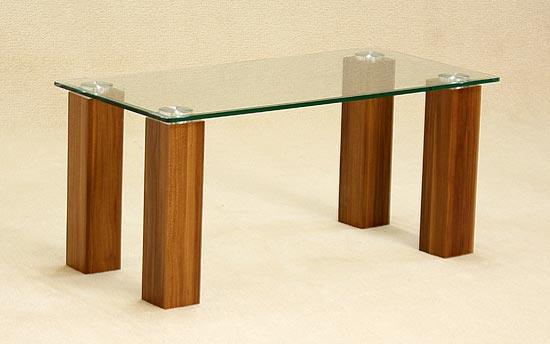 Mirage Clear Glass Top Coffee Table
