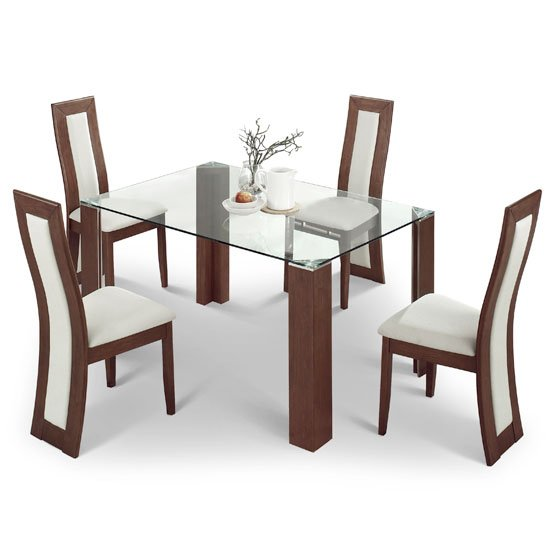 Cheap Glass Dining Table And 4 Chairs Black Glass Table  : Mistral glass Dining Set from amlibgroup.com size 550 x 550 jpeg 36kB