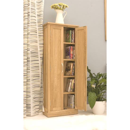 Artisan DVD Storage Cupboard In Oak