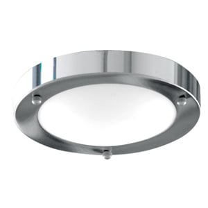 Modern Bathroom Light Chrome With Opal Glass