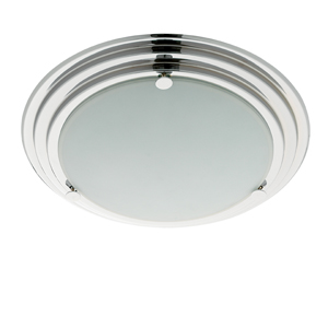 Modern Bathroom Light Chrome Finish With Opal Glass