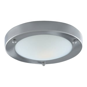 Modern Bathroom Light Satin Silver With Opal Glass