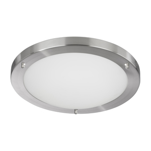 Modern Satin Silver Flush Bathroom Light