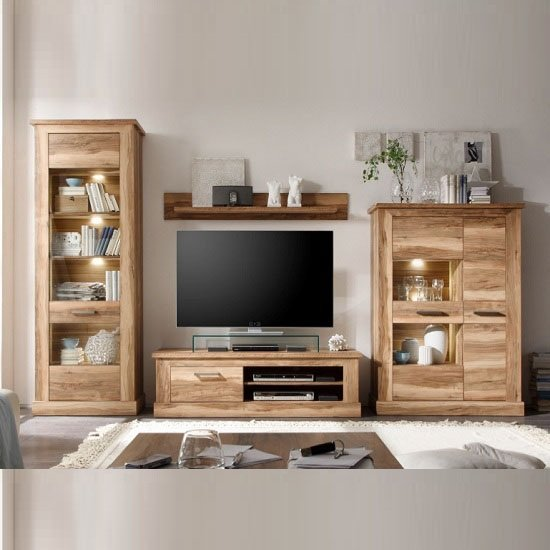 Montreal living room furniture set 1 in walnut satin with Living room furniture sets uk