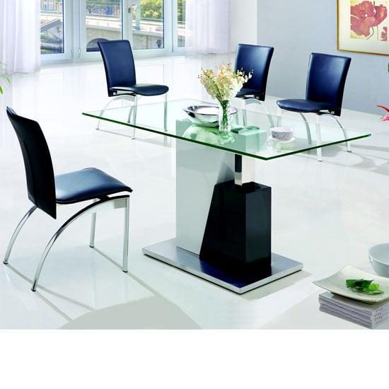 Toscana White High Gloss Coffee Table: Toscana Black High Gloss Console Table TOS03