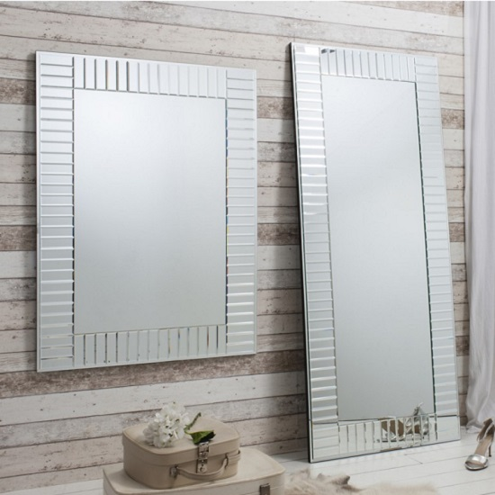 Lauren Mosaic Wall Mirror In Silver And Intricate Bevelled Glass_2