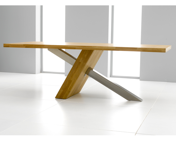 Antonio 195cm Solid Oak Dining Table Only