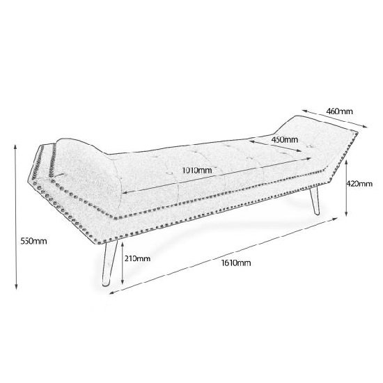 Monsoon Modern Large Chaise In Charcoal Grey Fabric_2