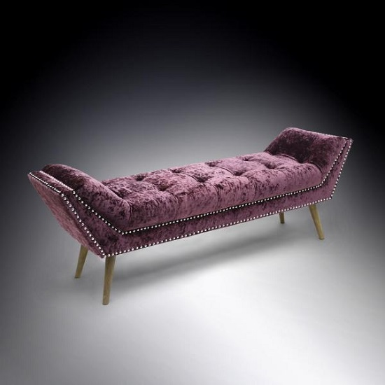 Montrose Crushed Velvet Grape Chaise  (Large) Shankar - 5 Designs Of Accent Chairs For Your Living Room