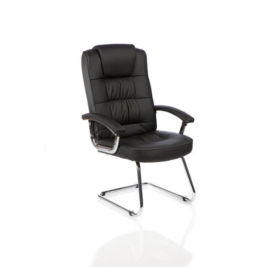 Moore Leather Cantilever Office Chair