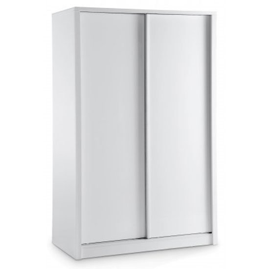Nova White High Gloss Finish 2 Door Sliding Wardrobe