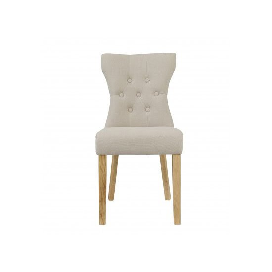 Optro Beige Dining Chair With Oak Legs