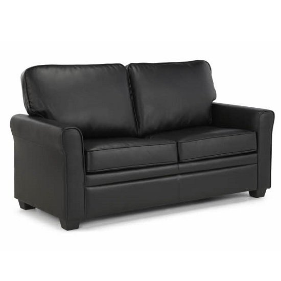 Alyssa Modern Sofa Bed In Black Faux Leather