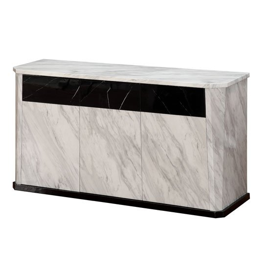 Nouvaro Sideboard In White And Black Marble