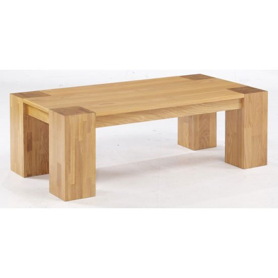 Buy cheap chunky oak coffee table compare furniture for Cheap oak coffee table
