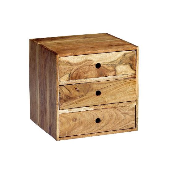 Octane 3 Drawer BedSide Cabinet