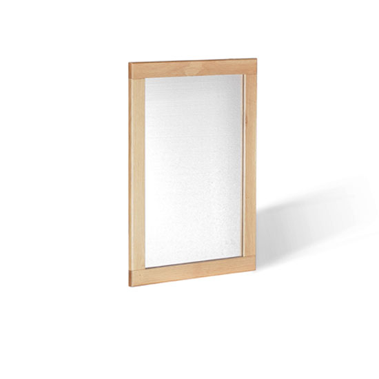 Pacific Wall Mirror In Solid Oak Frame