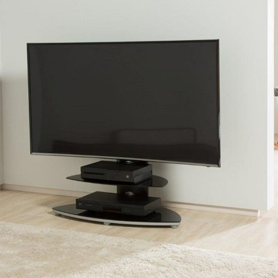 Maryland Cantilever Plasma TV Stand With 2 Shelves_1