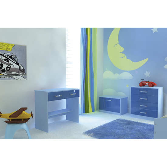 Ottawa 2 Tones 4 Drawer Chest In Blue