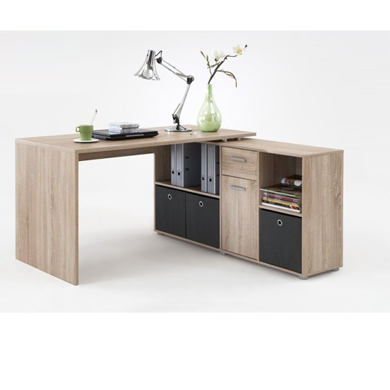 Oak Corner Computer Desk 353 001 - L-shaped Computer Desk Ideas For Various Interiors