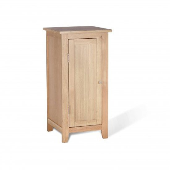 Pacific Low Bathroom Cabinet In Solid Oak With 1 Door