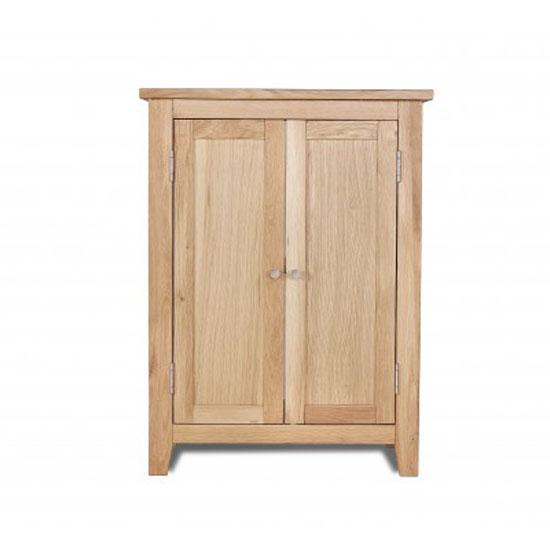 Pacific Bathroom Vanity Cabinet In Solid Oak With 2 Doors