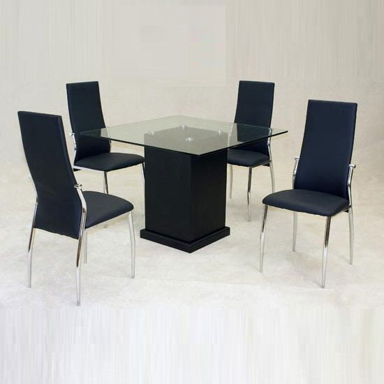 Odessa Dining Table with 4 Lazio Chairs