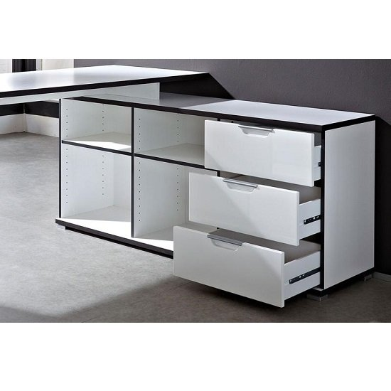 Arctic Home Office Corner Computer Desk In White_5