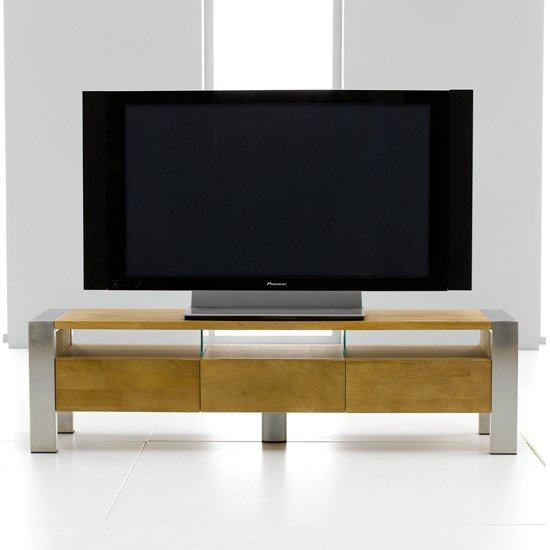 louis metal solid oak tv entertainment stand 13170. Black Bedroom Furniture Sets. Home Design Ideas