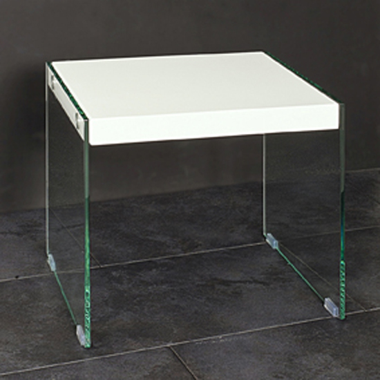 Toscana White High Gloss Coffee Table: Geno Side Table In High Gloss White