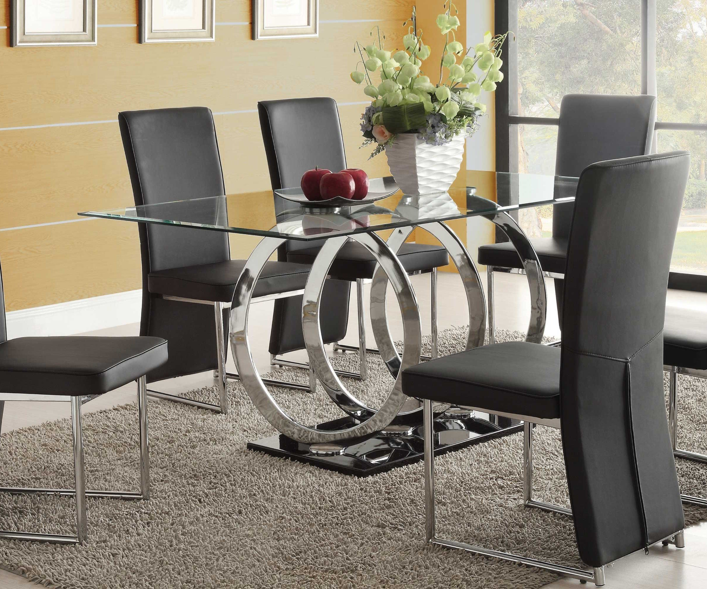 Olympus Clear Glass Dining Table Only_2
