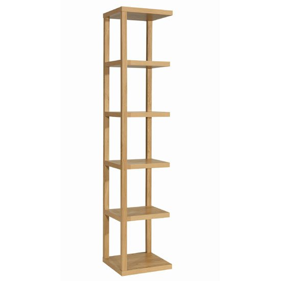 Ontario Solid Oak Finish Shelving Unit
