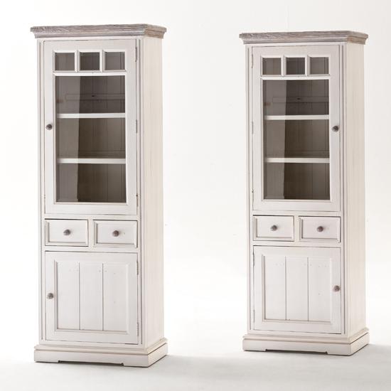 Opal Display Cabinet With Glass Door Left Side