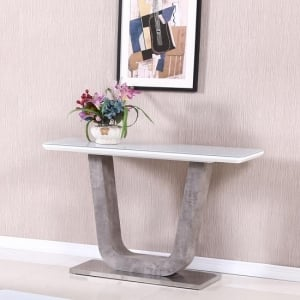 Console Tables In High gloss, Marble & glass