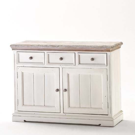 Photo of Opal sideboard in white pine with 3 drawers