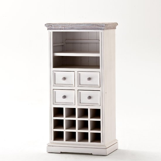 Opal Display Wine Cabinet With Wine Rack And Shelf