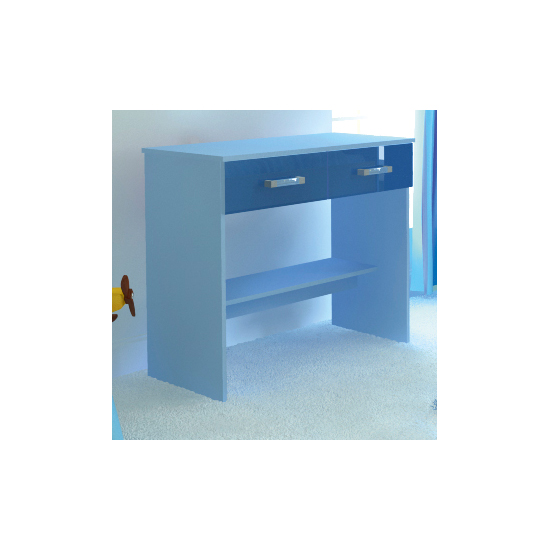 Photo of Ottawa 2 tones study desk with 2 drawers in blue