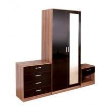 Ottawa 3 Piece Bedroom Furniture Set In Black Walnut
