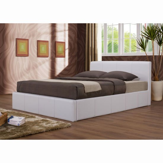 Cool Ottoman White Faux Leather Bed Bralicious Painted Fabric Chair Ideas Braliciousco