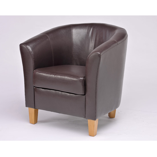 Merveilleux Oxford Dark Brown Tub Chair