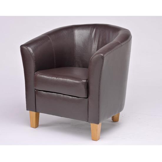 Oxford Stripe Fabric Tub Chair OXF06 Furniture IN Fas