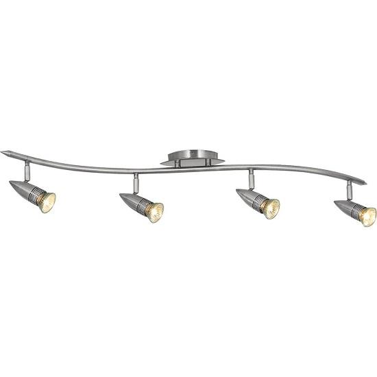 Bullit Pack Of 6 Satin Silver Finish Spot Light With Spot Bar