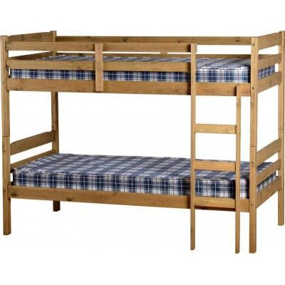 amitola bunk bed in natural oak wax