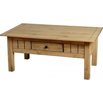 Amitola 1 Drawer Coffee Tables in Natural Oak Wax