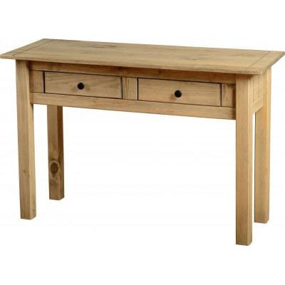 Amitola 2 Drawer Console Tables in Natural Oak Wax