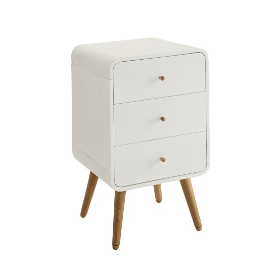 Worcester Wooden Office Pedestal In White Ash With 3 Drawer