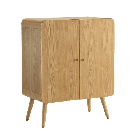 Worcester Office Storage Cabinet In Natural Ash With 2